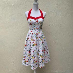 Lindy Bop Floral Cotton Rockabilly Swing Dress